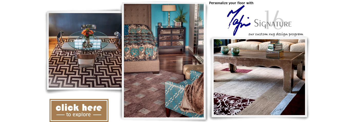 Personalize your floor with Mafi Signature 16, our custom rug design program